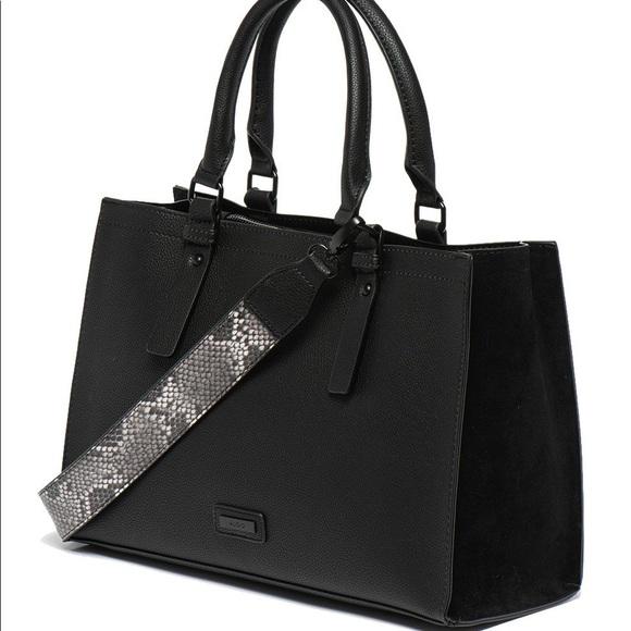 Aldo Satchel Handbag - Zenawien Black